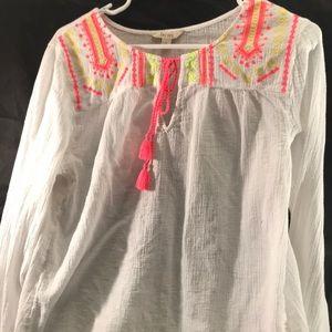 Decree loose summer  embroidered shirt